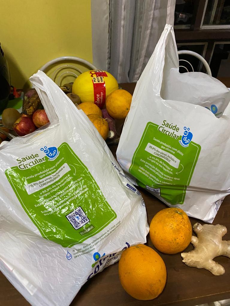 Sacolas Plásticas Anti-COVID E Biodegradável